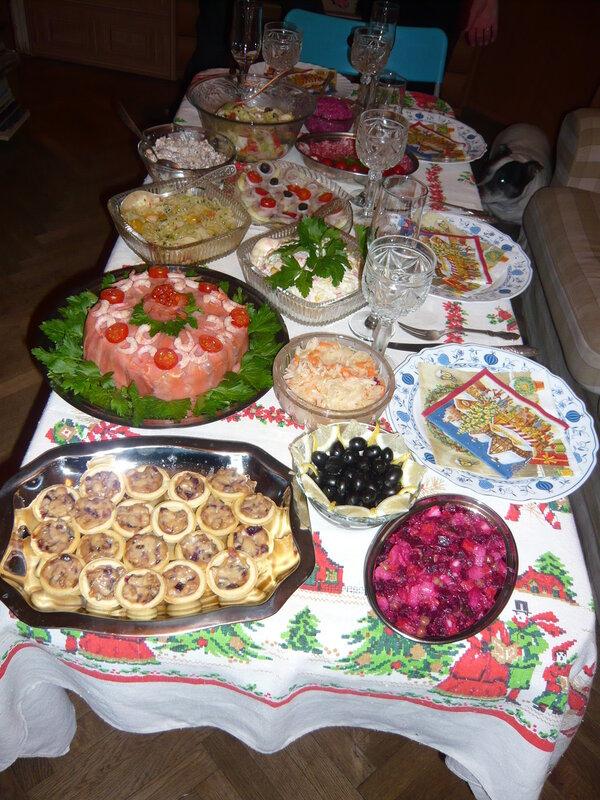 Простейшие закуски к новогоднему