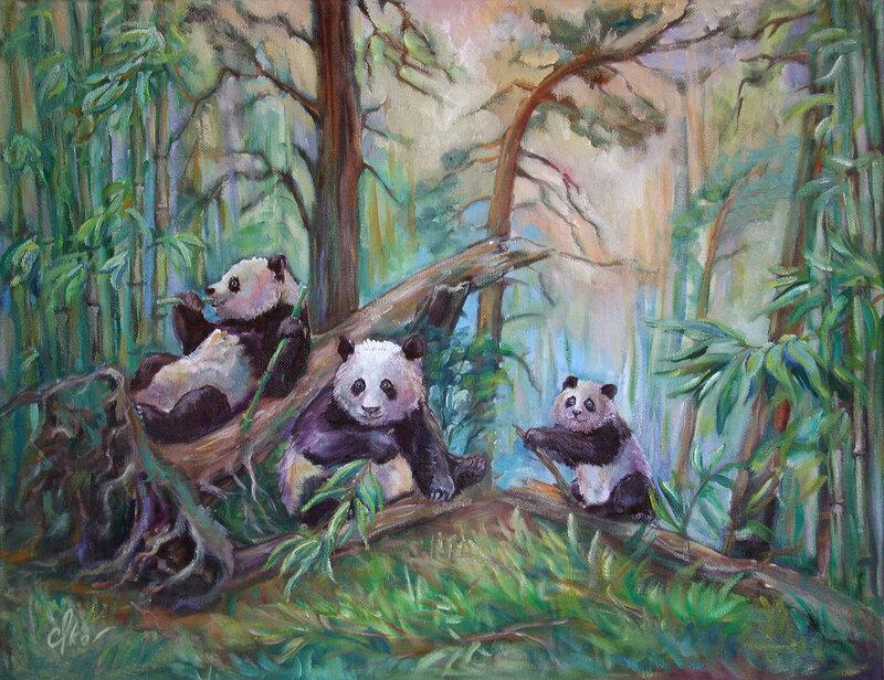 Утро в бамбуковом лесу